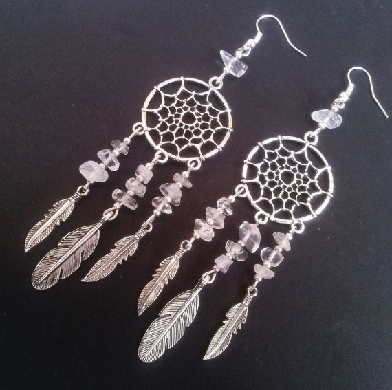 quartz, Dangle Earring, Jewelry, Dreamcatcher