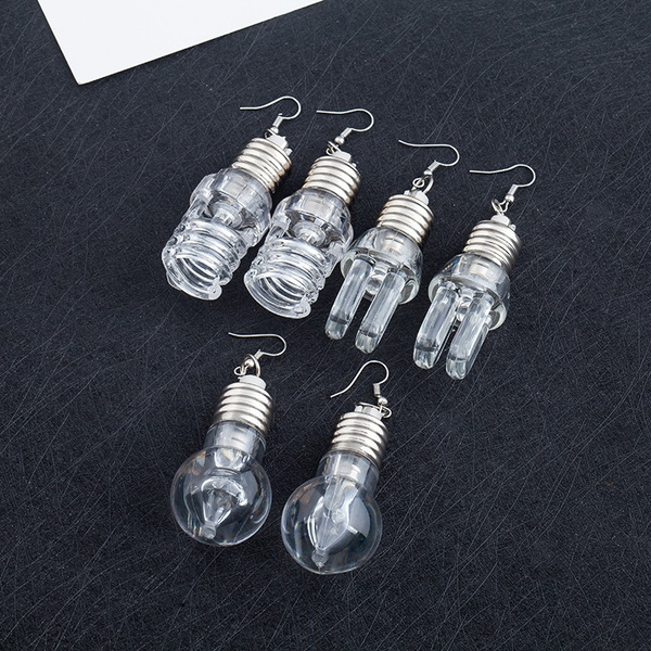 Light Bulb, Funny, Fashion, lightbulbearring