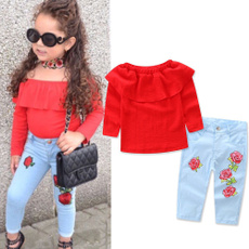 Baby Girl, pants, Mezclilla, girls clothing set