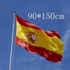 spainflag, Poliéster, nationalflag, national