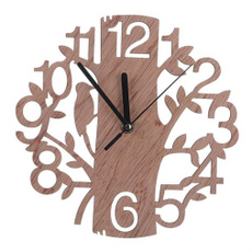 3dclock, Home Decor, Clock, Wooden