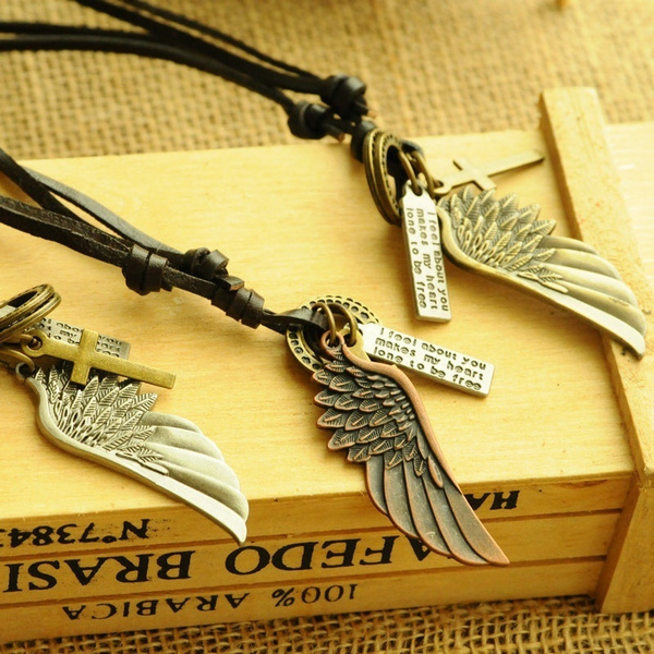 Men, leather, Vintage, Necklaces Pendants