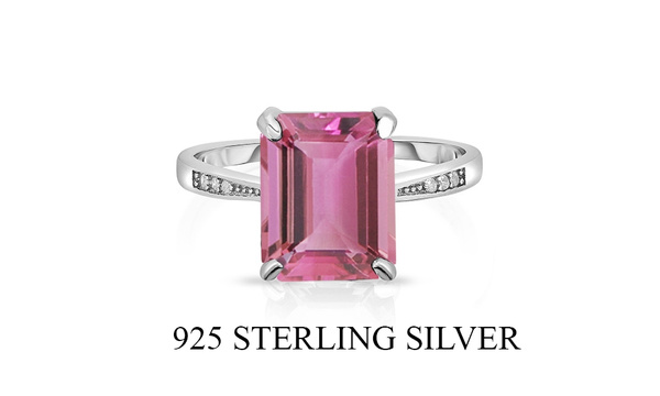 pink, Sterling, Jewelry, Silver Ring