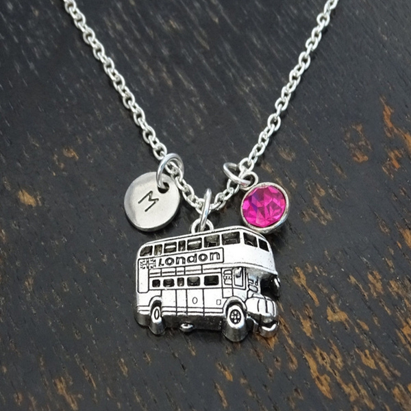 Personalized necklace, bus card holders, friendshipnecklace, Jewelry