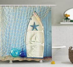 Shower, Decor, fashionshowercurtain, starfish