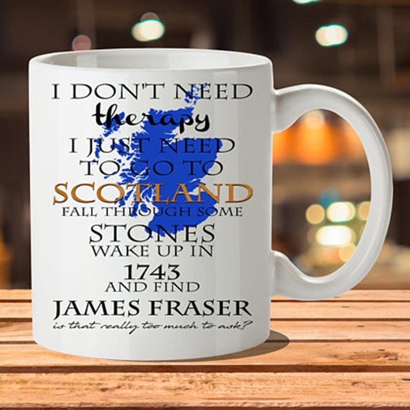 Put On A Kilt And Call Me Sassenach Mug Outlander Mug Highlander Mug Jamie And Claire Gift M125 Scottish Mug