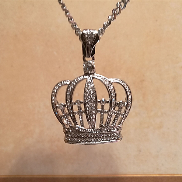 Men  Necklace, Jewelry, Gifts, crownpendant