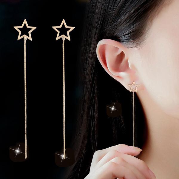 earline, Dangle Earring, Jewelry, fivepointedstar