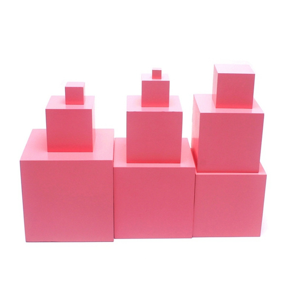 pink, montessori, cube, earlylearningtoy