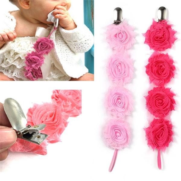 Flowers, Chain, pacifierchain, Rose