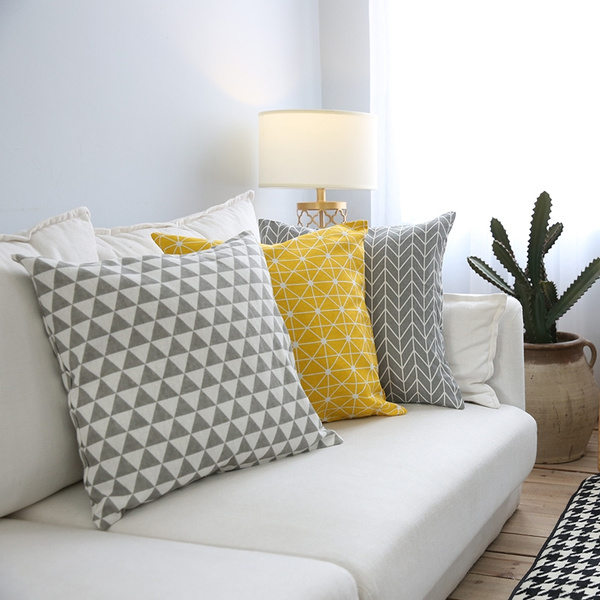 Home Decor, Pillowcases, Yellow, Pillow Covers