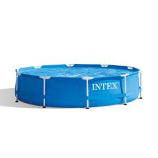 intex10x30metalframesetpool, summerpool, Metal, 330gphfilterpump