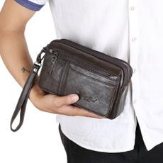 clutch purse, genuine leather bag., business bag, Mobile
