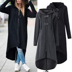 longwomenhoodie, Winter, fleecejacket, winter coat