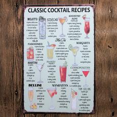 metalsignsartwall, Decor, Cocktail, classiccocktail