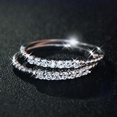 DIAMOND, Jewelry, Silver Ring, Simple