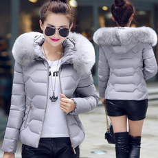 furcollarcoat, Plus Size, winterdownjacket, womenhoodedcoat