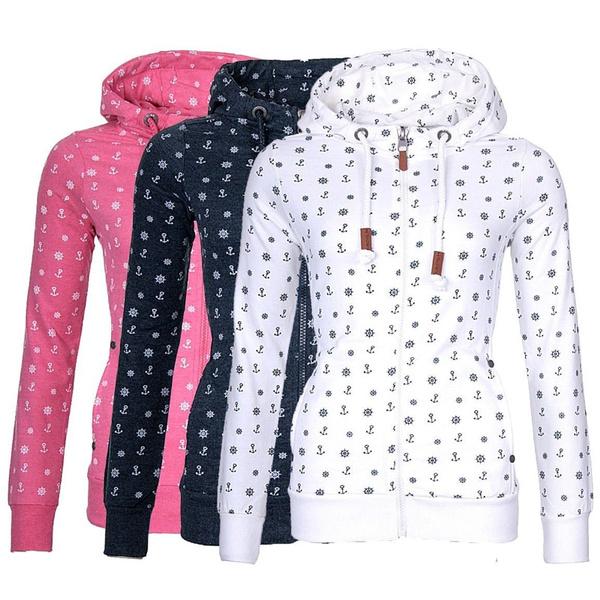 anchorprintsweatshirt, Fashion, Winter, Long Sleeve