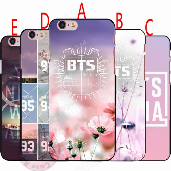 Bts Phone Case Design Bts Logo Wallpaper Hard Plastics Case Cover For Iphone Samsung Huawei 5 Styles Wish