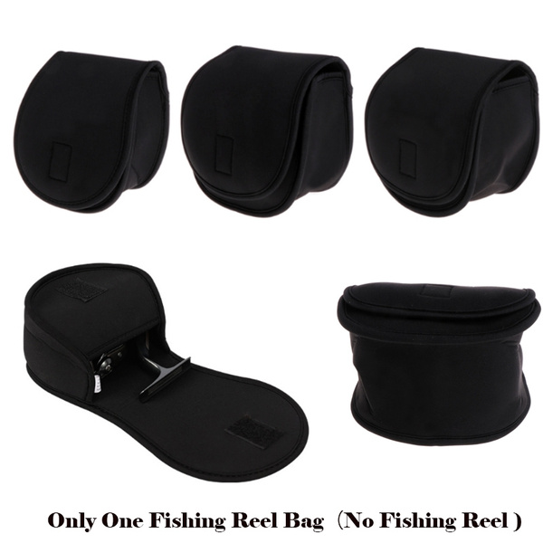 WHEEL BAITCASTING FISHING REEL BAG PROTECTIVE CASE K8U0 POUCH COVER HOLDER L8B8