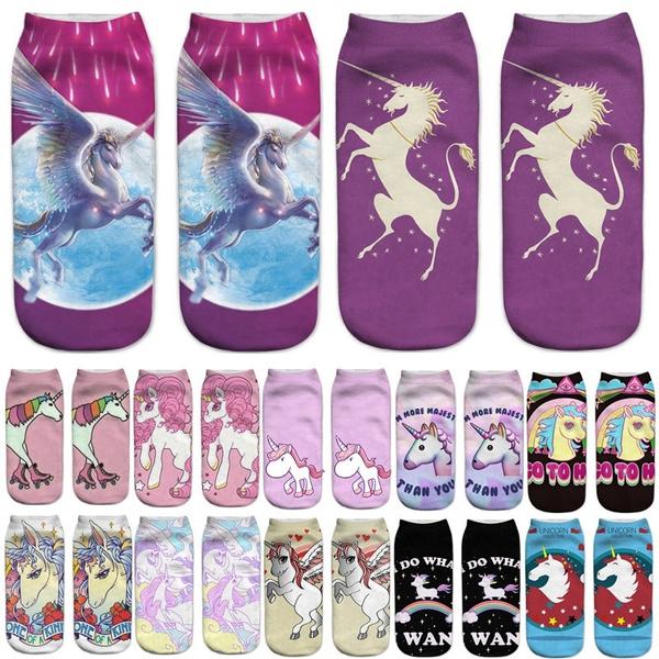 cute, Fashion, casualsock, unicorn