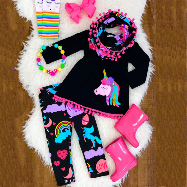 cartoon sweatshirt, long sleeve blouse, Shirt, unicornlegging