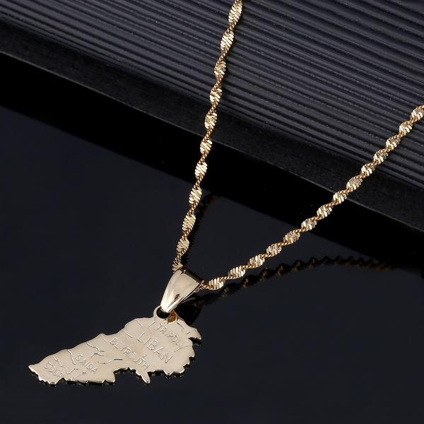 goldjewelrylebanon, libanmapnecklace, gold, mapoflebanonjewelry
