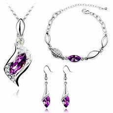 Sterling, Crystal Bracelet, necklaceearringsbracelet, Crystal Jewelry