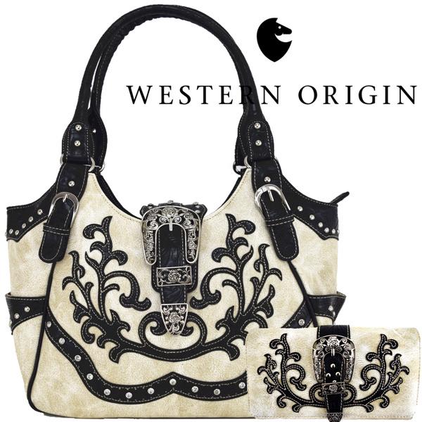 Women, westernstylehandbag, Cowgirl, Buckles