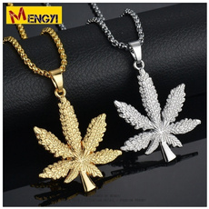 goldplated, DIAMOND, leaf, Jewelry