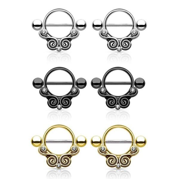 nipplepiercing, shield, piercingjewelry, Tribal
