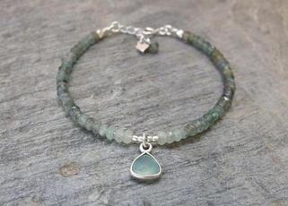 Beaded Bracelets, aquamarine, Jewelry, yogabracelet