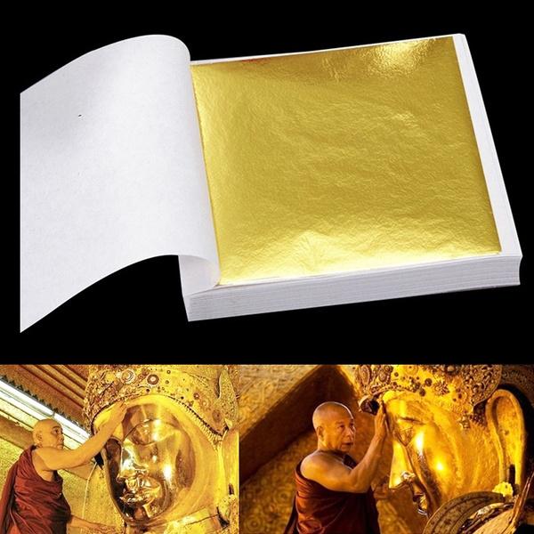 goldendecoration, goldfoilsticker, leaf, gold