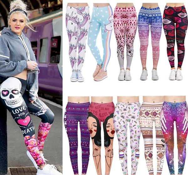 Leggings, yoga pants, cartoon leggings, Women Leggings