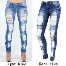 distressedjean, skninypant, rippedjean, Women jeans