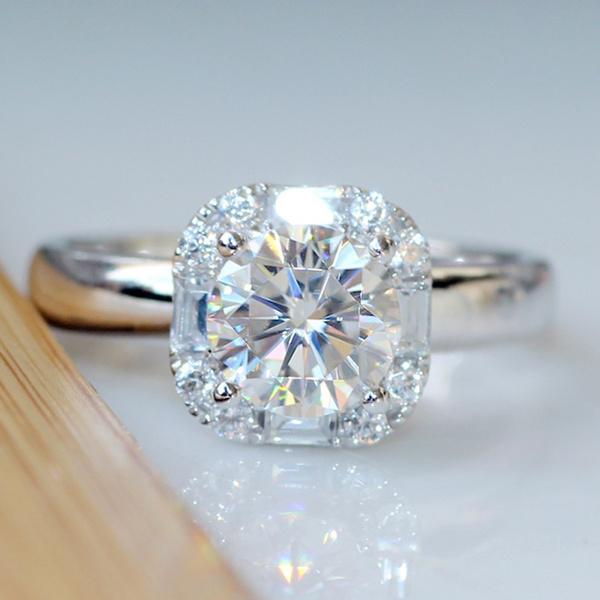 Sterling, DIAMOND, Jewelry, Diamond Ring