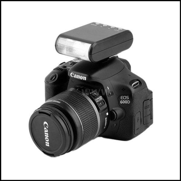 Black V BESTLIFE Hot Shoe Flashlight 82g//0.18 lb Mini Portable Digital On-Camera Hot Shoe Mount Flashlight for DSLR Cameras
