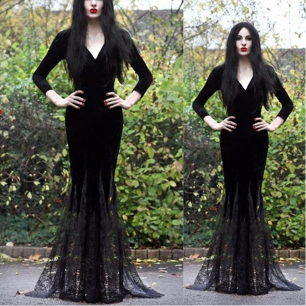 Goth, Slim Fit, Lace, halloweengift
