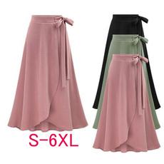 Summer, long skirt, high waist, chiffon