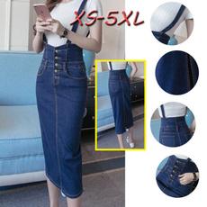 Blues, Summer, long skirt, Plus Size