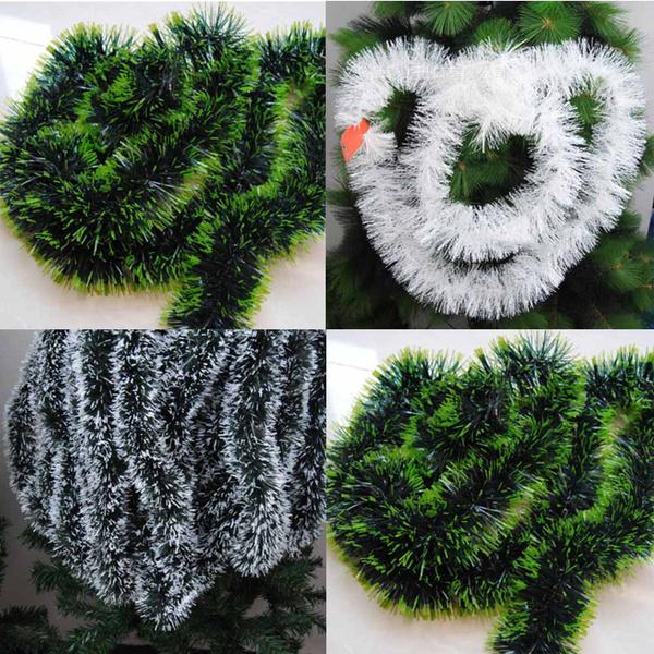 2M Christmas Bar Tops Ribbon Tinsel Garland Christmas Tree Ornaments Decoration=