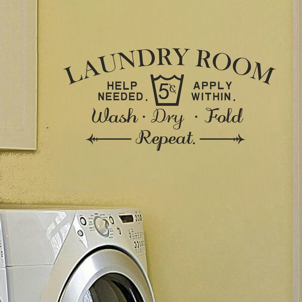 wallstickersampmural, Decor, Laundry, Home Decoration