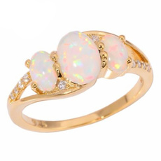 fireopalring, wedding ring, gold, Simple