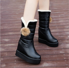 withvelvet, cottonpaddedshoe, Womens Boots, velvet