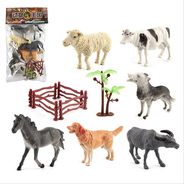 Sheep, horse, Toy, cow