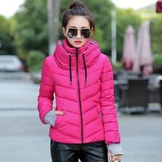 Plus Size, Winter, Shorts, Coat