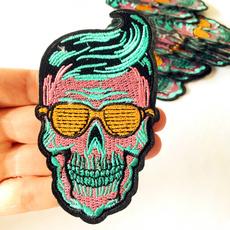 hoilday, irononapplique, skull, diyaccessorie
