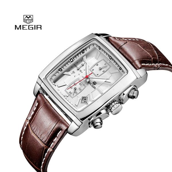 Chronograph, quartz, Gifts For Men, leather strap