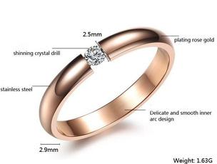 yellow gold, crystal ring, Women Ring, gold