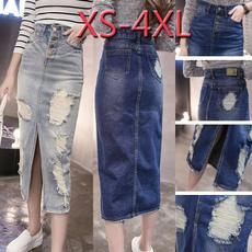 Blues, Summer, long skirt, Fashion